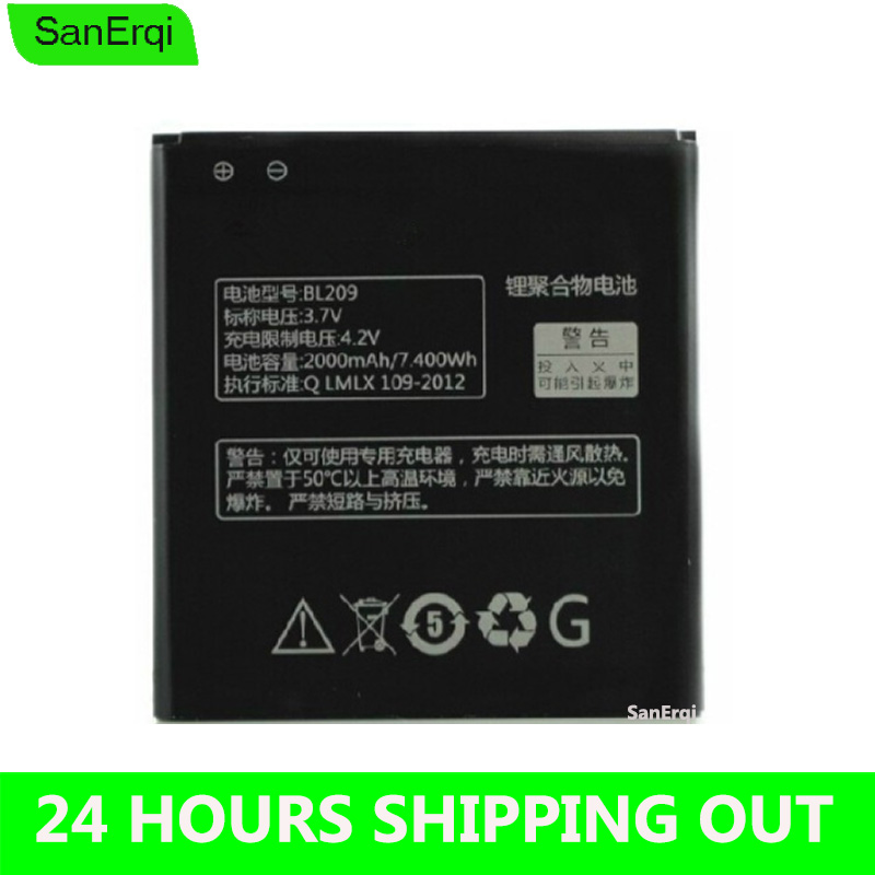 BL209 Battery For lenovo A706 A516 A378T A788T A820E A760 A398T 2000mAh Mobile Phone Battery Batterie Bateria <font><b>BL</b></font> <font><b>209</b></font> image