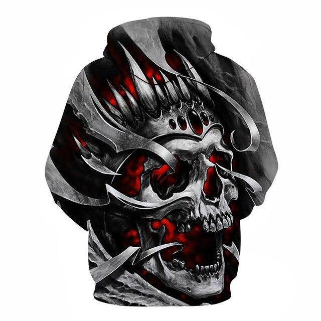 New 2019 Custom Unisex Sweatshirt 3D Skull Printed Pullovers Hoodies Dropship S-6XL 1