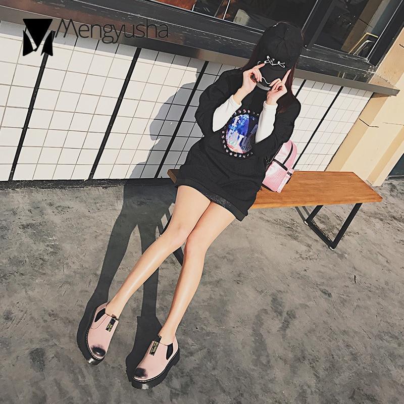 Noir Chaussures allumette Lettre La Tout Derbies Derby Nubuck Creepers Simples forme Sur Imprimer Plate Rétro Cuir Plates En rose Glissement Filles Ruban wwSTqR8