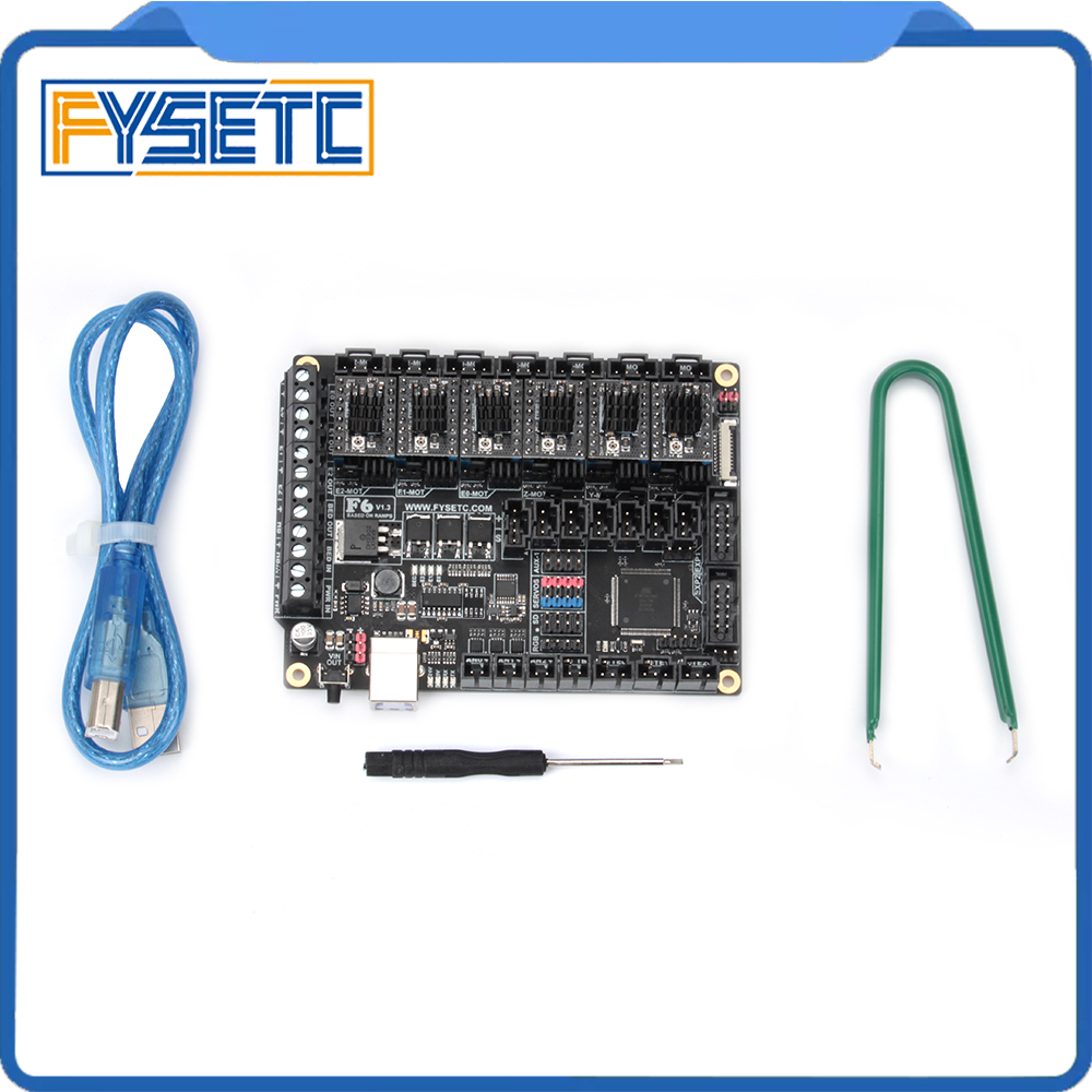 6 pz Stepping Motor Driver ST820 + FYSETC F6 V1.3 Bordo ALL-in-one Electronics Soluzione Mainboard Per 3D Dispositivi CNC Stampante