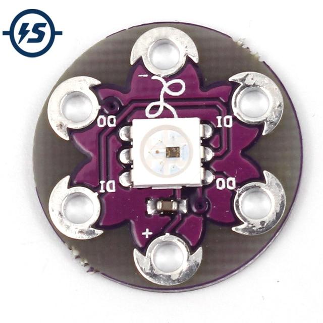 10pcs/lot LilyPad Pixel Board WS2812 5050 RGB LED Module for Arduino