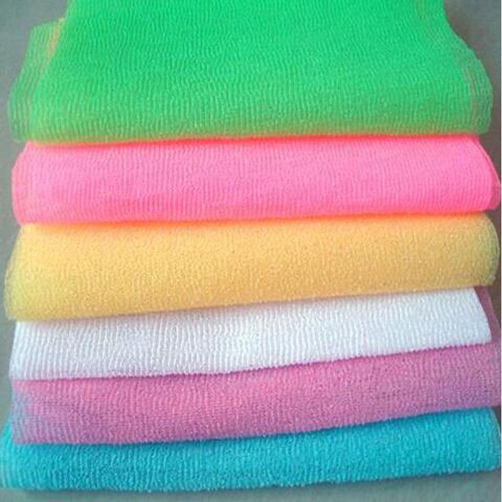 1pc Body Nylon Wash Cloth Bath Towel Mesh Body Washing Clean Exfoliate Puff Scrub Bodys Treatment Bath Shower Products