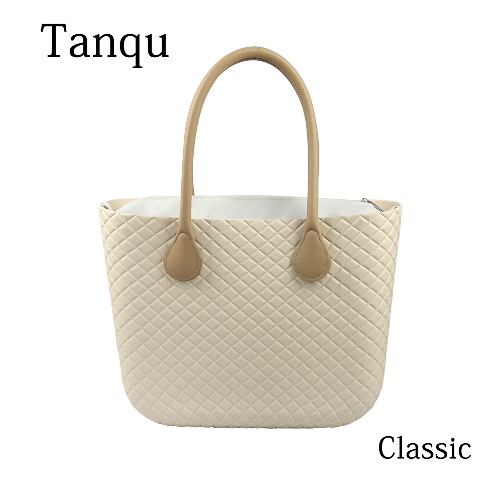 2019 TANQU Obag Style Classic Big EVA Bag with Inner Pocket Colorful Handles Waterproof O bag