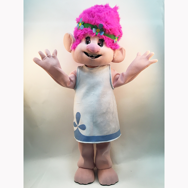 2019 Yeni Troll Mascot Costume Trolls Character Mascot Parade Quality - Karnaval kostyumlar - Fotoqrafiya 4