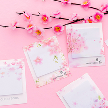 3 pcs Fresh Cherry Sakura Natural Memo Pad Sticky Notes Shopping Check List Escolar Papelaria School Supply Label