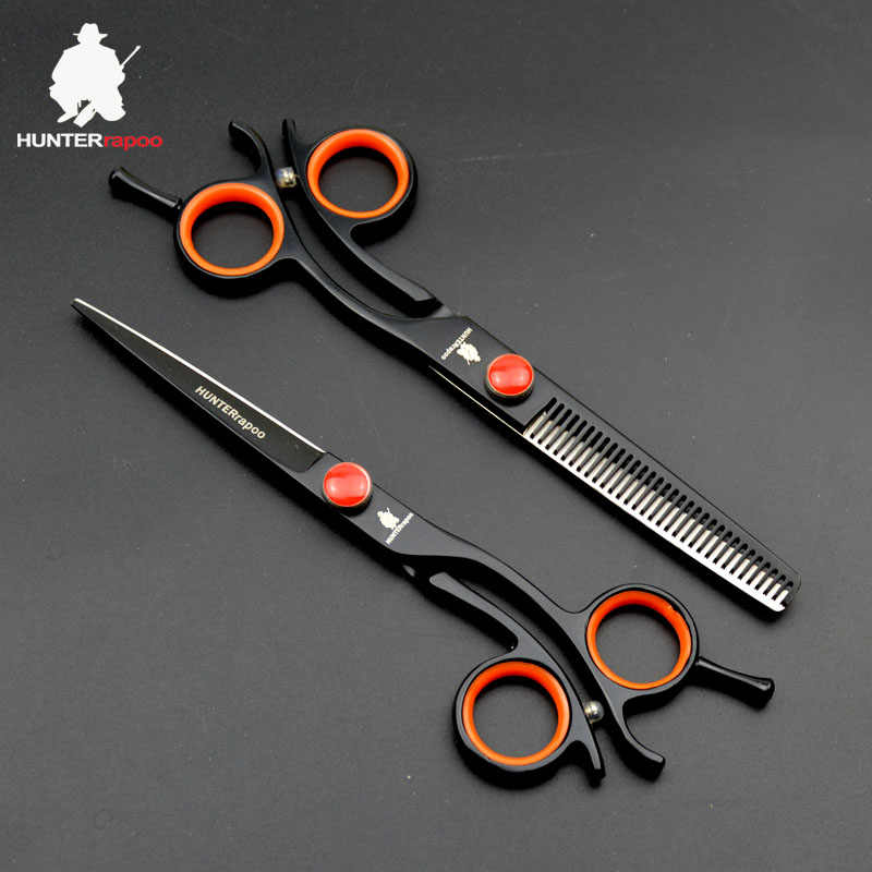 30% off stainless steel japan 440C Barber Scissors set HT9168 Professional hair cutting thinning scissors for barbershop clipper