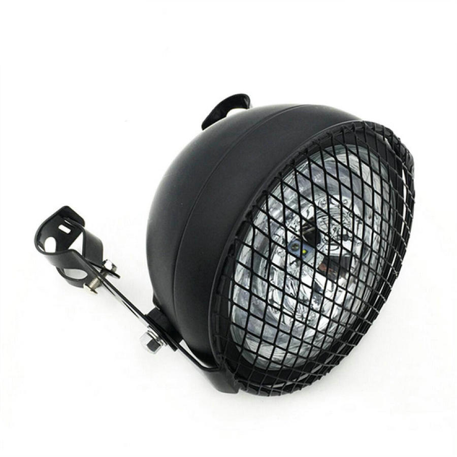 Image 2 - Motorcycle Headlight Cafe Racer Head Light Decorative Lights Modified Motorbiker Vintage Head Light With Bracket