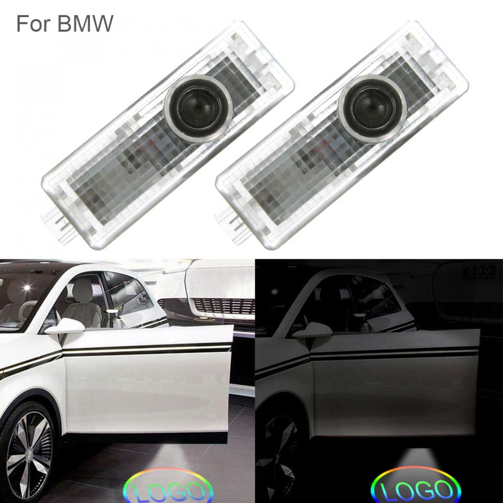 Car Lights Adroit 2pcs Car Door Light Car Vehicle Ghost Led Courtesy Welcome Logo Warning Light Lamp Shadow Laser Projector For Bmw Logo Light Pure Whiteness