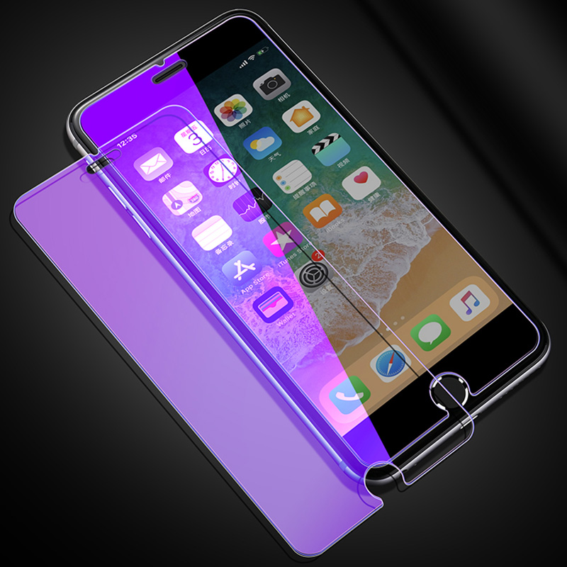 KIP71384_3_Anti Blue Light Tempered Glass for iPhone 6 6S 7 8 Plus XS XR XS Max 9H 2.5D Protective Film