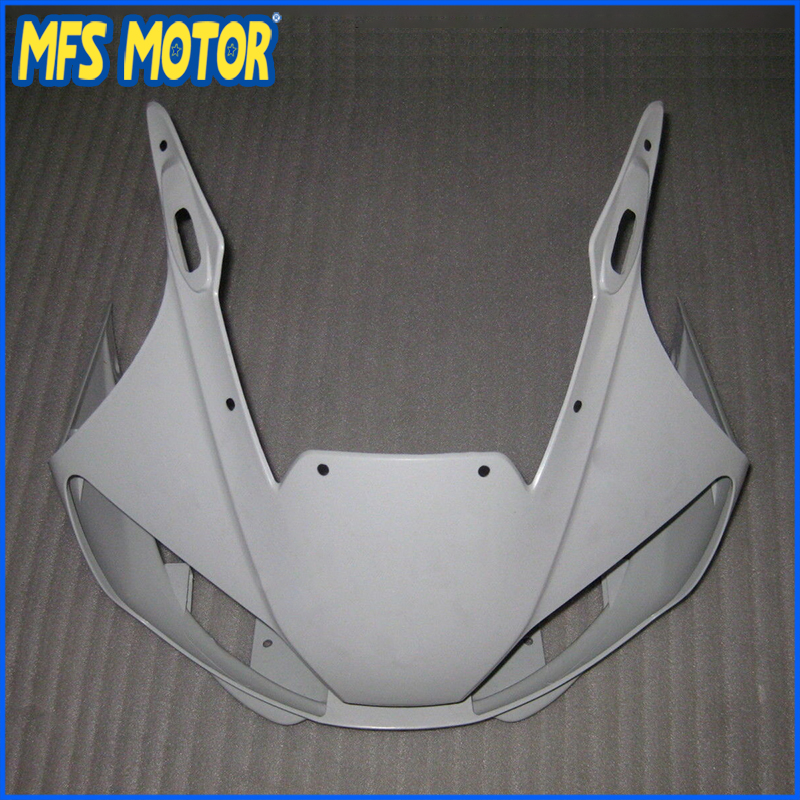 Motorcycle Unpainted ABS Injection Front Upper Fairing for YAMAHA 99 00 01 YZF-R6 1998 1999 2000 2001 2002 unpainted abs plastic front upper cowl nose fairing bodywork for yamaha yzf r6 r600 1998 2002 1999 2000 2001