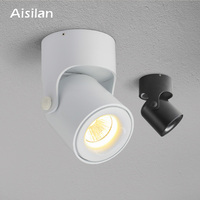 Aisilan Nordic Modern style free rotation free adustable LED spot light downlight for living bedroom kitchen AC85 260V 5W