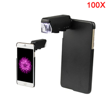 Cheapest prices 60X-100X Digital Zoom Lentes Microscope With Led Phone Camera Lenses For Samsung Galaxy note 2 3 4 5 7 S7 S4 S5 S6 edge Cases