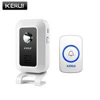 Kerui Беспроводной магазин добро пожаловать входной двери перезвон Smart Дверные звонки с кнопкой Шторы инфракрасный детектор движения двери С...