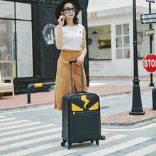 Лидер продаж! Новое Для женщин ретро 20/24 inch PU Rolling Чемодан с сумочкой Для мужчин модный Спиннер Фирменная дорожная сумка для переноски на комплект для багажа с тележкой на колесиках