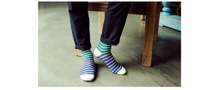 Thin colorful dress socks
