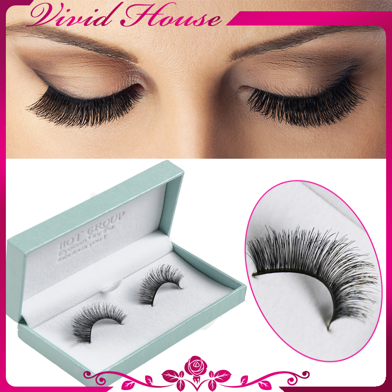 Natural make up human hair eyelashes 2 thick black handmade full natural make up human hair eyelashes 2 thick black handmade full strip lashes fake eyelash extensions free shipping in false eyelashes from beauty health pmusecretfo Image collections