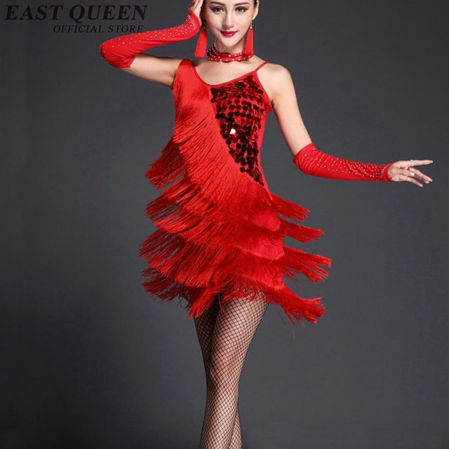 Latin dance dress women tango fringe dress for dance rumba salsa latin dance dress stage dance wear samba costume NN0848