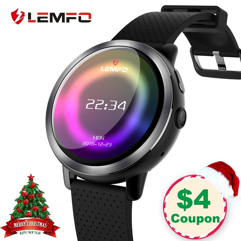LEMFO LEM8 Montre Smart Watch Android 7.1 LTE 4g Sim WIFI 1.39 pouce 2MP Caméra GPS Coeur Taux De Noël Cadeaux smartwatch pour Hommes Femmes