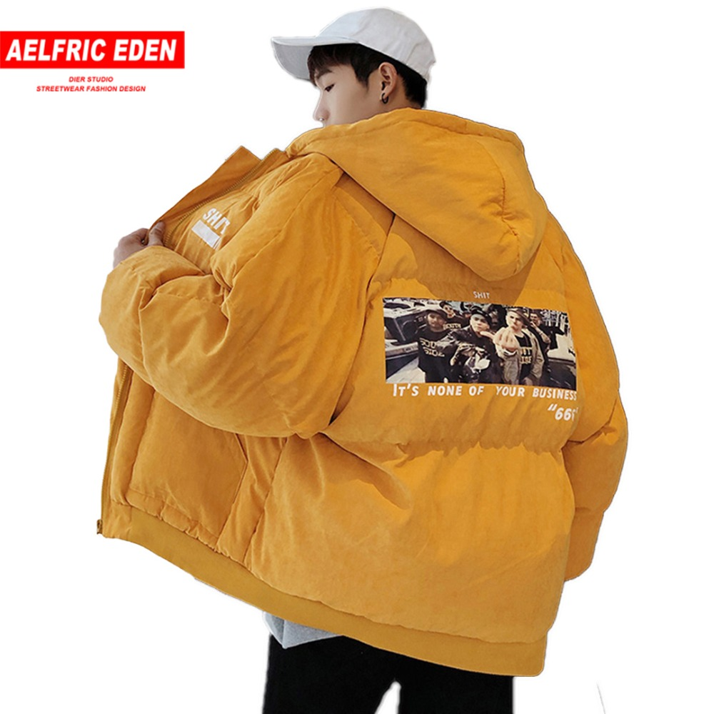 Aelfric Eden Windbreaker Bubble Coat Mens Jackets Thick   Parkas   2018 Winter Harajuku Hip Hop Warm Jacket Outwear Streetwear AG18