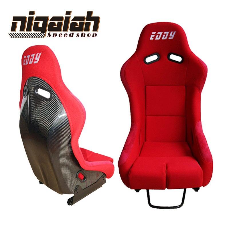 2 PCS/LOT OEM MR Vois seau & siège non inclinable en fibre de carbone ou Kevlar rouge/bleu/noir/jaune Sport siège de course siège de voiture dérive