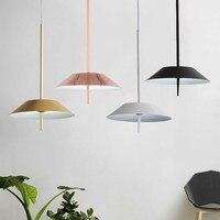 Modern Rose Gold Metal Pendant Lights White Flying Suspension LED Lamp Nordic Restaurant Bar Cafe Living Room Home Lighting G945