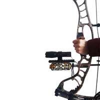 Универсальный комбинированный лук Рекурсивный лук баррель держатель рельсы 21 мм для лазерного прицела и фонарика фонарь Ночной охотник пр...
