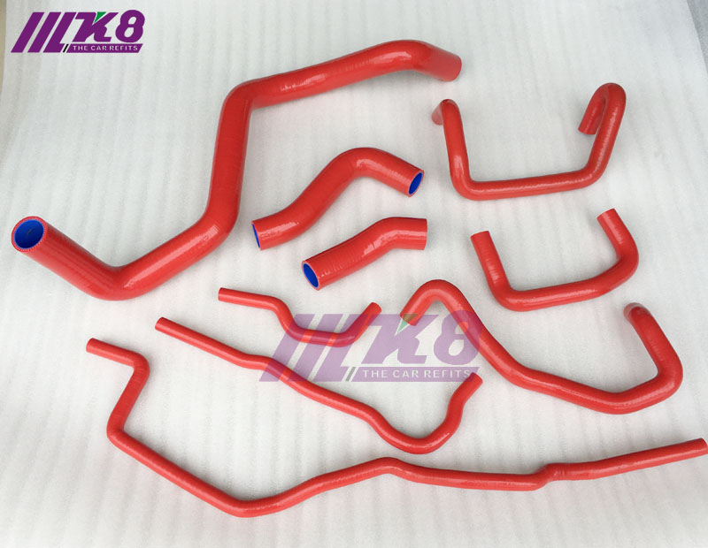 Silicone Radiator Hose Kit For Volkswagen 1999-2006 Golf Mk4 1.8T Turbo  (9pcs) RED/BLUE/BLACKSilicone Radiator Hose Kit For Volkswagen 1999-2006 Golf Mk4 1.8T Turbo  (9pcs) RED/BLUE/BLACK