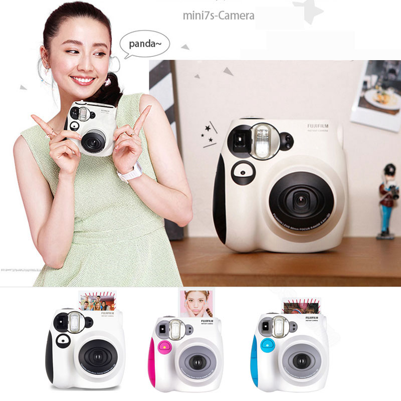 Fujifilm Instax Mini 7s Instant Film Photo Camera Blue Pink Black Free Shipping, Accept Fujifilm Instax Mini Films new 5 colors fujifilm instax mini 9 instant camera 100 photos fuji instant mini 8 film