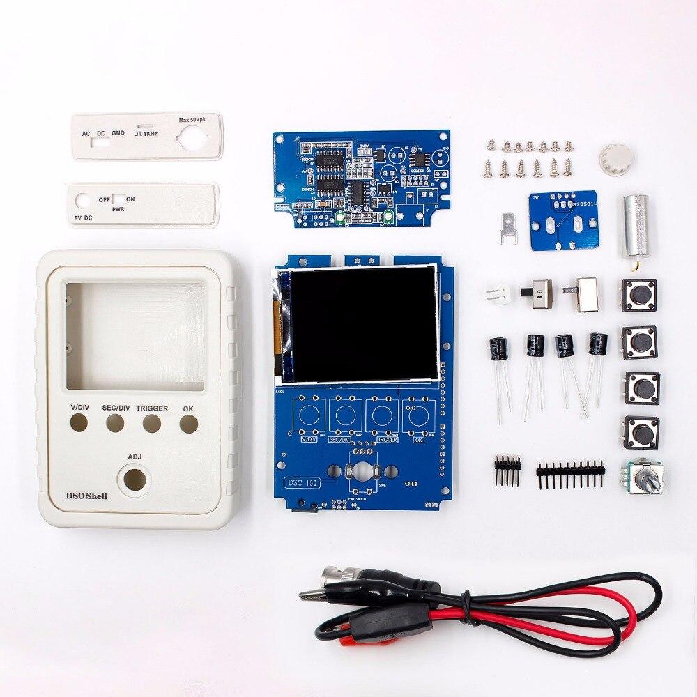 ¡Exclusiva! Original tecnología DS0150 15001 K DSO-SHELL (DSO150) DIY osciloscopio Digital Kit con carcasa de la caja de envío gratis