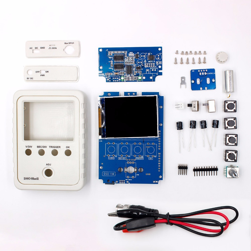 Exklusive!!! Orignal Tech DS0150 15001 K DSO-SHELL (DSO150) DIY Digitale Oszilloskop Kit Mit Gehäuse fall box Freies Verschiffen