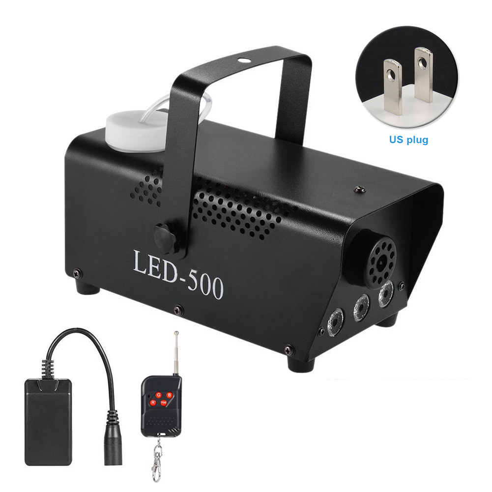 Party Multi-color Rgb Light Smoke Stage Fog Machine Portable Remote Control Wireless Commercial Lighting