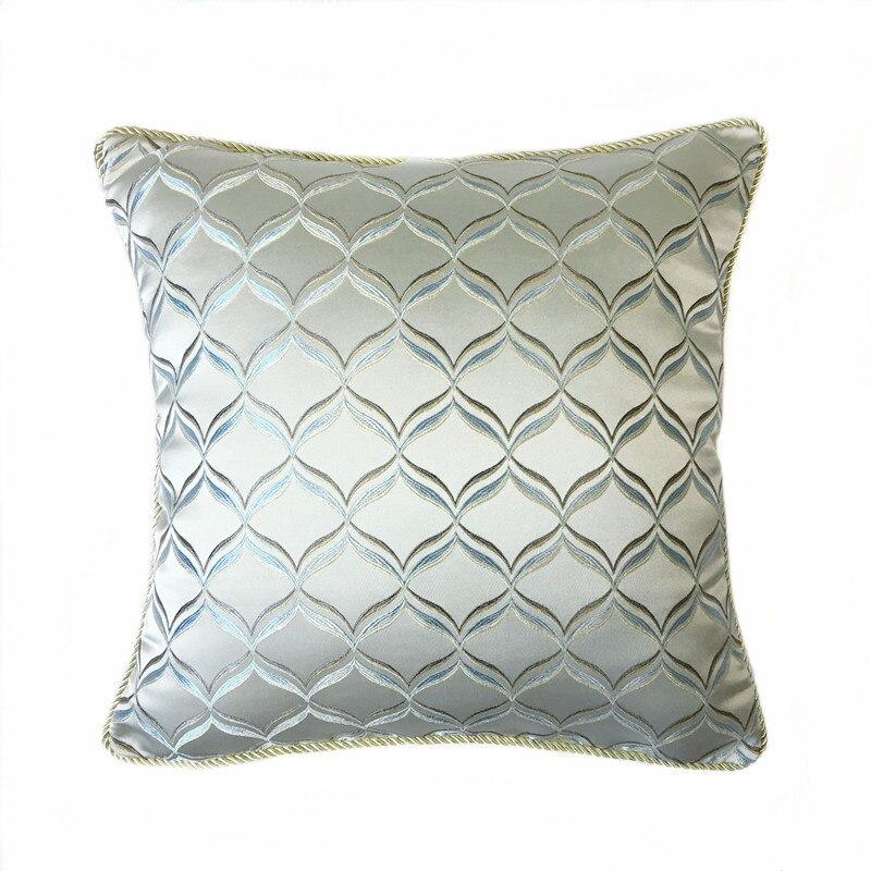 Table & Sofa Linens Cushion Cover Contemporary Geometric Gray Pillow Case Jacquard Woven Sofa Cushion Cover Fashion Throw Pillowcase 45 X 45 Cm Sell By Piece