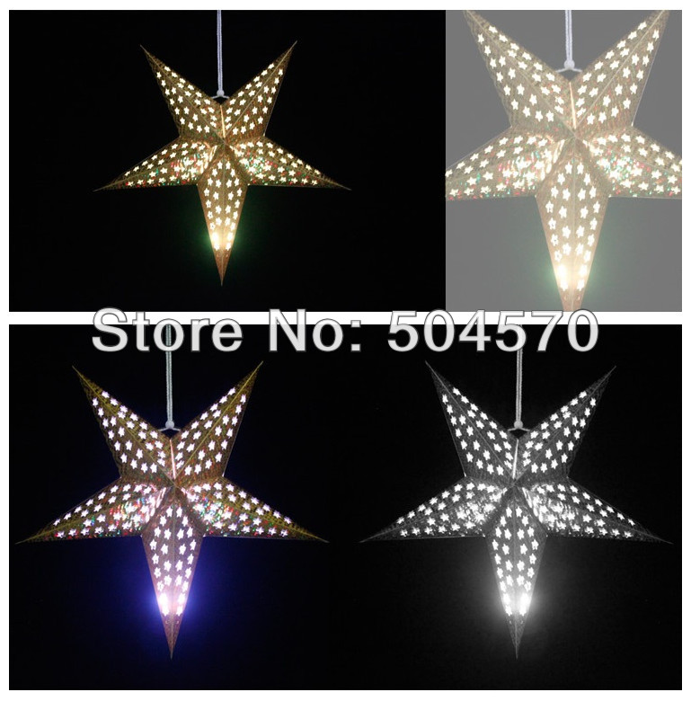4pcs / Lot 30-60cm LED 스타 핸들 손전등 램프 레이저 - 휴일 파티 용품 - 사진 3
