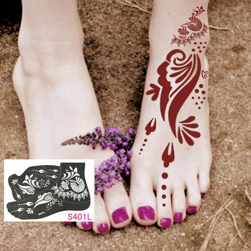 Professional Henna Tattoo: 1sheet Tattoo Templates Foot/feet 16models Henna Tattoo