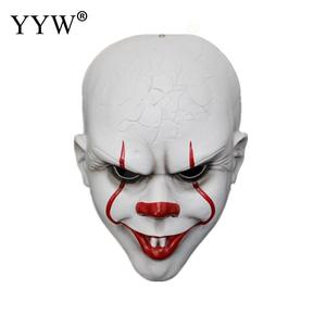 Image 4 - Clown Mask Stephen KingS It Mask Penny Wise Horror Joker Masker Scary Full Face Masks Mascaras Halloween Cosplay Costume Props