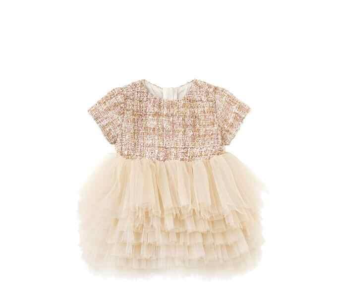 Платье для маленьких девочек Весенняя одежа для малышей, комплекты в стиле принцессы для маленьких девочек; 1 год, день рождения, платья для вечеринки и свадьбы, Vestido Baptism chriserning платье