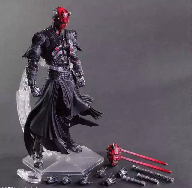 Play Arts Star War Darth Maul PA Black Knight Darth Vader Imperial Stormtrooper 27cm PVC Action Figure Doll Toys Kids Gift play arts marcus fenix game gears of war 3 war machine pa play arts kai 27cm pvc action figure doll toys