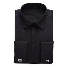 11 Farben Französisch Manschette Kleid T-shirt Männer Hohe Qualität Lange hülse Camisa Masculina Slim Fit 2016 Neue Marke Kleidung Mit manschettenknöpfe