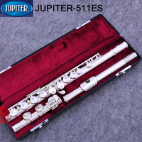 high quality JUPITER JFL 511ES 16 Holes Closed C Key Double Silver Plated Flute Silvering Professional Western Concert instrumen