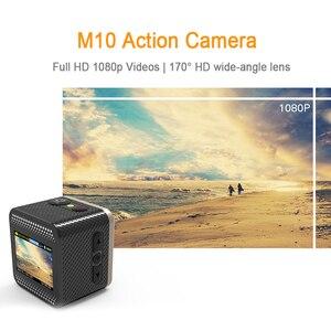 Image 3 - Sjcam m10 câmera esportiva de ação original, full hd 1080p, mergulho, 30m, à prova d água, submersa, câmera para capacete, câmera para gravar esportes câmera