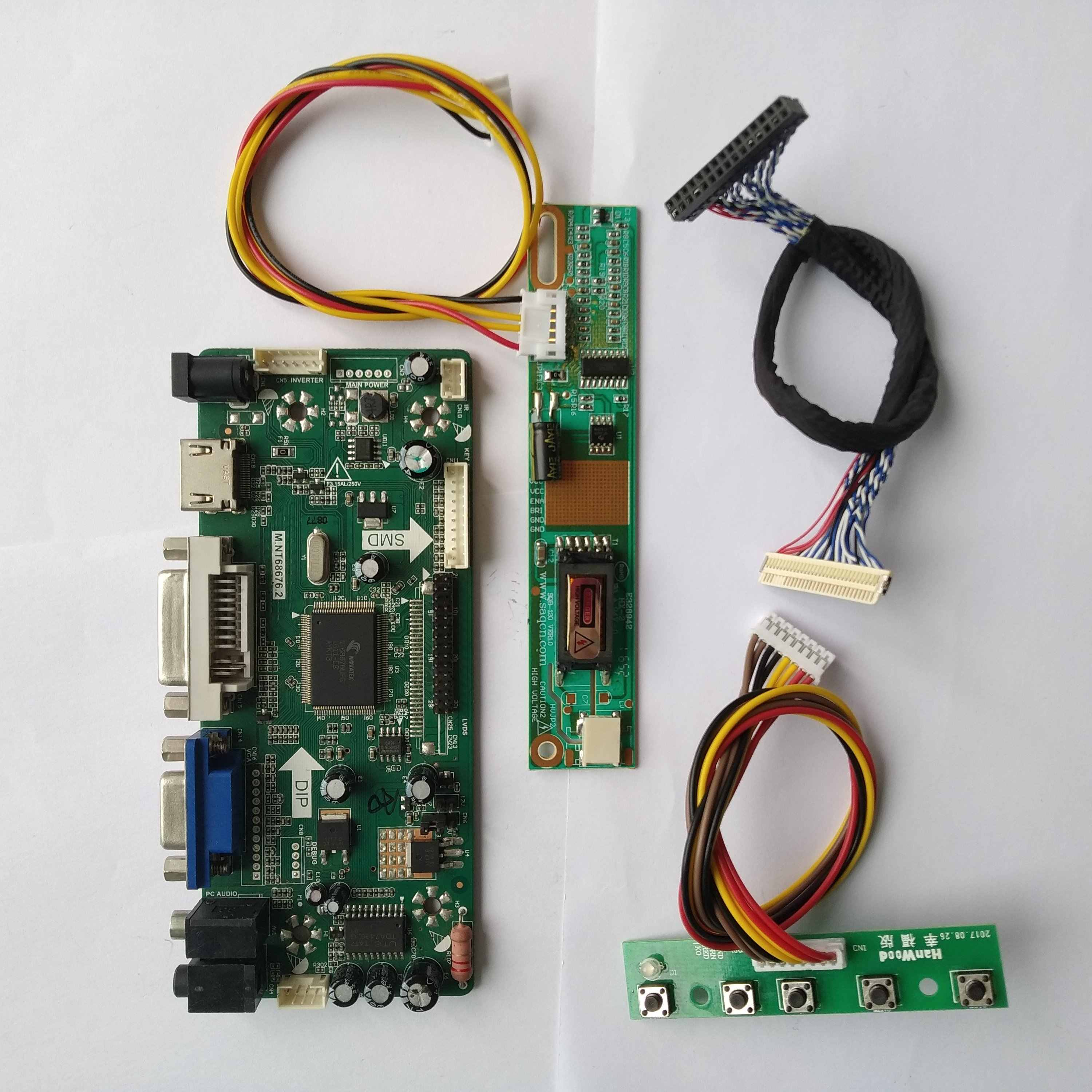 Hdmi Dvi Vga Lcd Driver Controller Board Kit Diyfor LP171WP4 (Tl)(N1)/(Tl)(N2) 1440*900 Panel Monitor Screen M.NT68676