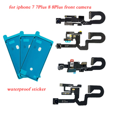 2pcs/set For iPhone 7 7 Plus 8 8 Plus waterproof sticker + facing front Camera Sensor Proximity Light and Microphone Flex Cable