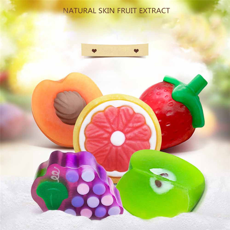 Fruit Body Soap Handmade Essential Oil Cleansing Deep Pores To Blackhead 5 favors Levrt Dropship 3JY13