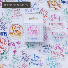 Colorful Mood Decorative Stationery Stickers Scrapbooking DIY Diary Album Stick Label