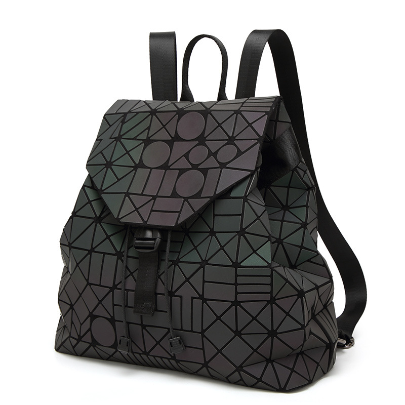 Felicity 2018 Fashion Backpack Women Geometric Bag School Bags For Teenagers Boy Big Luminous Bag Back Pack Fashionable Girls ultrafire bd0056 led 100lm 3 mode white zooming flashlight black golden 1 x 18650