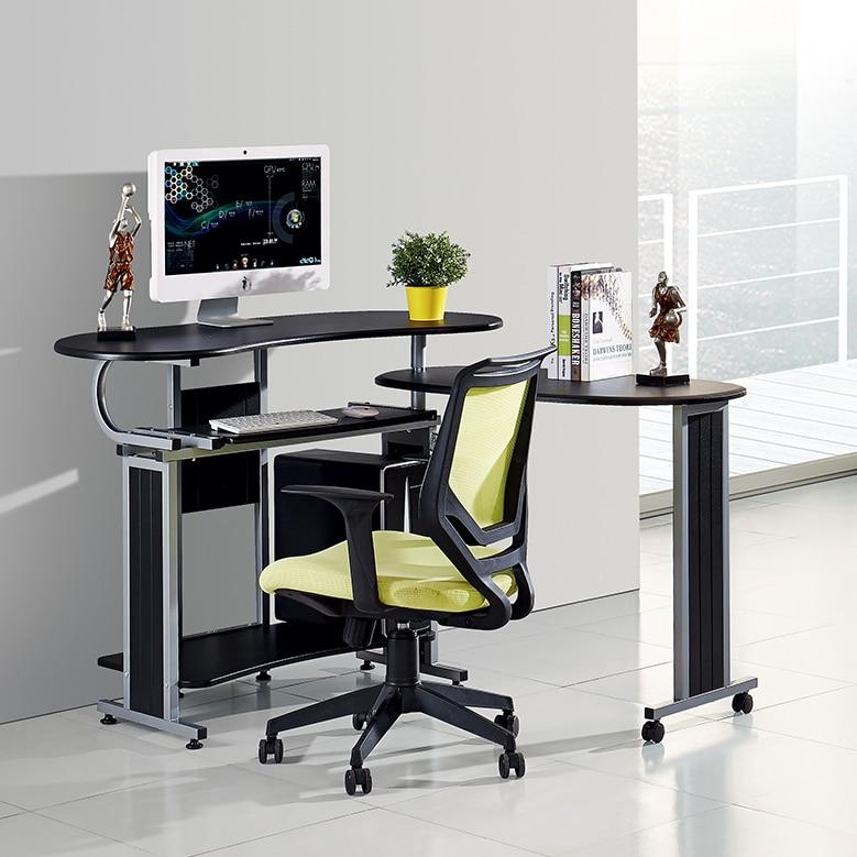 sunteam double desktop computer desk corner desk modern. Black Bedroom Furniture Sets. Home Design Ideas