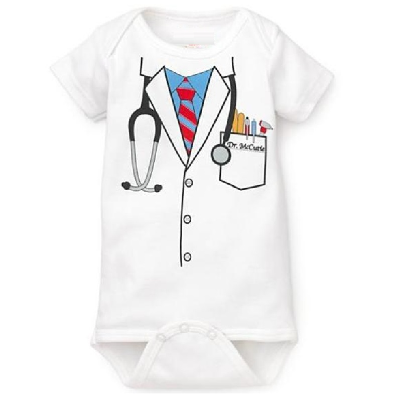 Doctor <font><b>baby</b></font> boy <font><b>bodysuit</b></font> <font><b>short</b></font> <font><b>sleeve</b></font> summer <font><b>baby</b></font> clothes <font><b>Newborn</b></font> Jumpsuits Bebe clothing girl Infant <font><b>Bodysuits</b></font> image