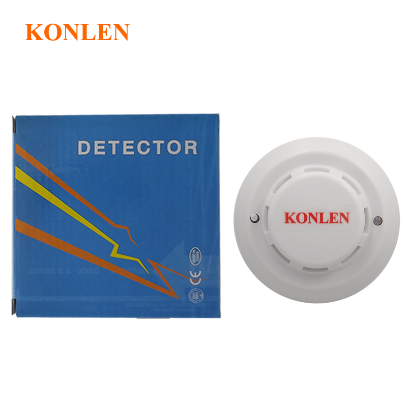 Photoelectric smoke sensor fire detector wired with NO/NC output for ...