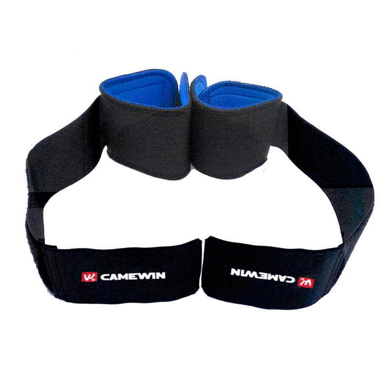 CAMEWIN Adjustable Wrist Support Brace Wristband 1 Pair Professional Sports Protection Wristbands Black Color For Men and Women