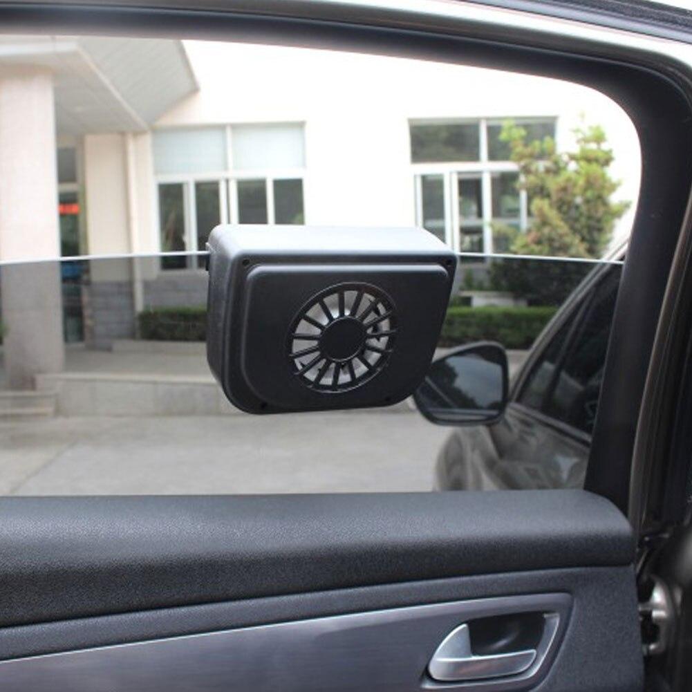 Universal 12 volts solar electrico ventilador de exaustão automático refrigerador janela ventiladores ventilação ar condicionado ventilador do carro radiador
